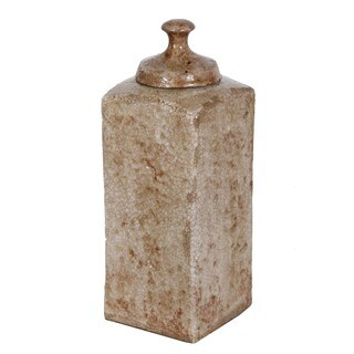 Privilege Large Lidded Ceramic Vase
