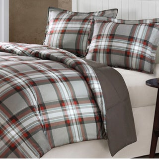 Comfort Classics Auburn Plaid Down Alternative 3-piece Comforter Set
