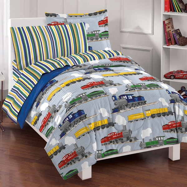 Trains 7-piece Bed in a Bag with Sheet Set