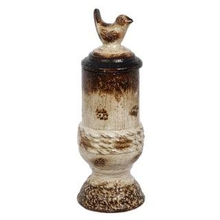 Privilege Small Antique Finish Ceramic Container