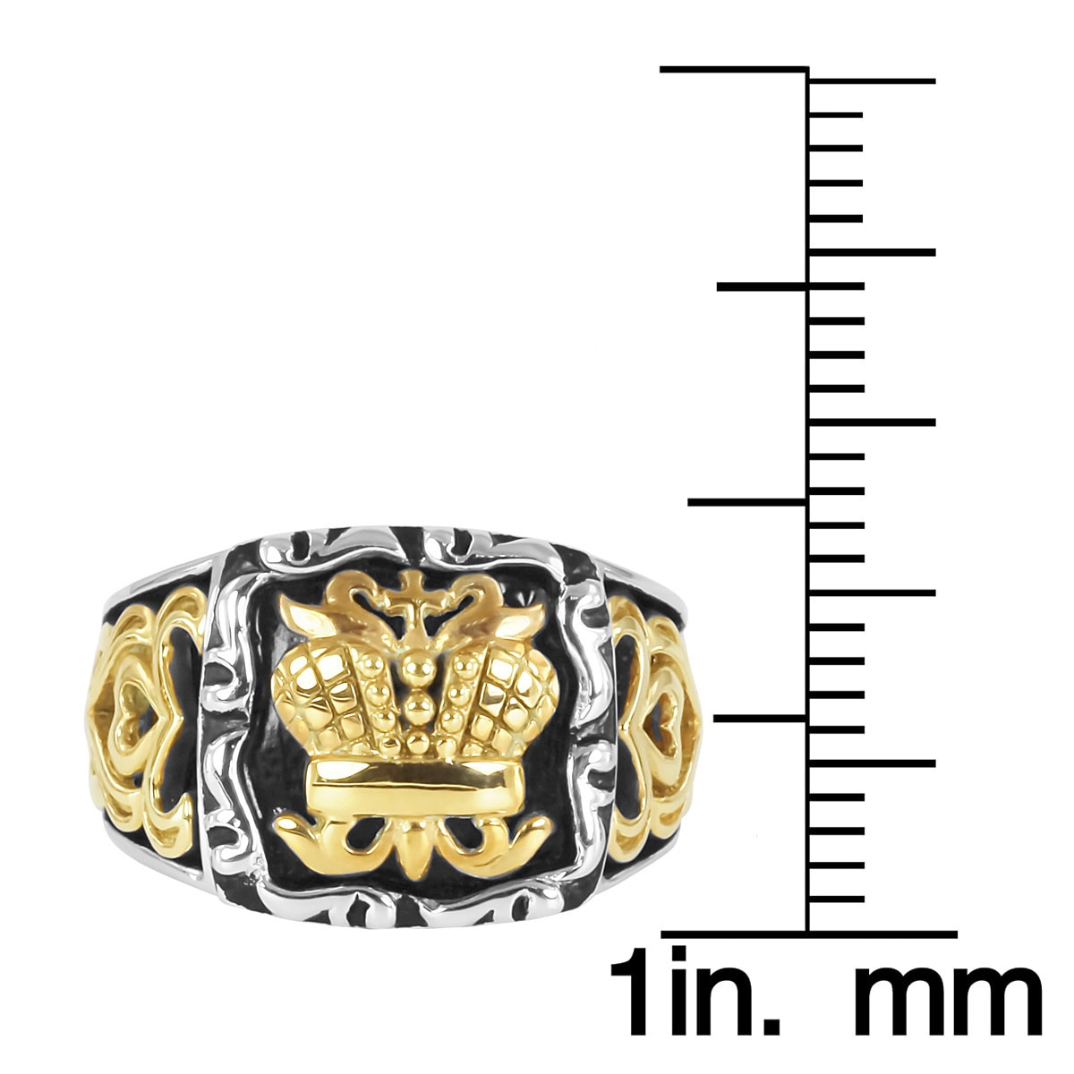 Contessa 18k Yellow Gold and Sterling Silver Lady's British Crown Ring