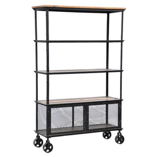 Kosas Collections Miles Iron Rolling Bookcase