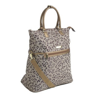 Anne Klein 'Cheetah Jacquard' Soft Fold-over Tote Bag