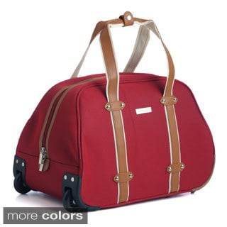 Anne Klein Vintage Edition 20-inch Carry-on Rolling Upright Duffel Bag