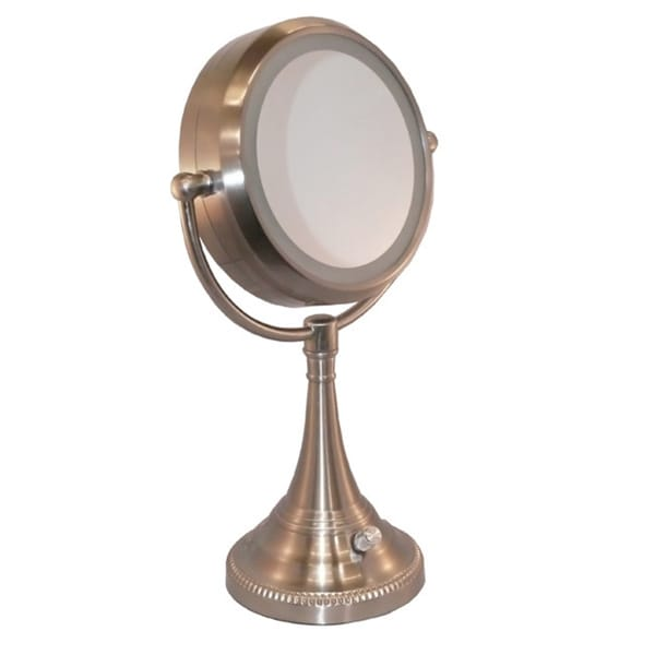 Natural Daylight Lighted 1x 8x Dual Magnifying Vanity Mirror