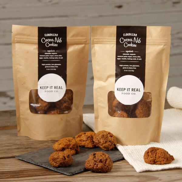 Flourless Cocoa Nib Cookies (Pack of 2)