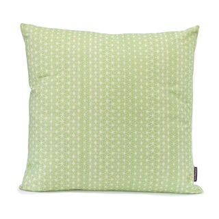 Hand-printed Jade Throw Pillow