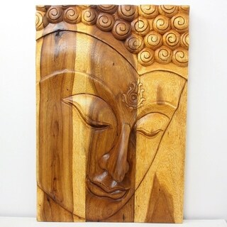 'Ushnisha' Wooden Buddha Panel (Thailand)