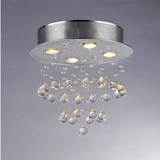 Marks Crystal 4-light Chrome Chandelier