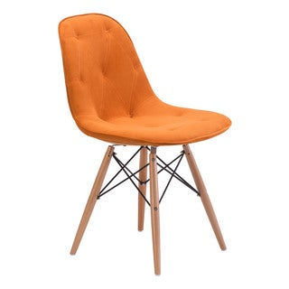 Probability Orange Velour Chair