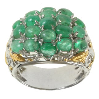 Michael Valitutti Two-tone Emerald Ring