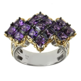 Michael Valitutti Two-tone Purple Princess Amethyst Ring