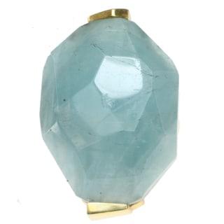 Michael Valitutti Gold over Silver Aquamarine Ring