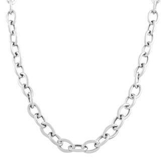 Fremada 14k White Gold 5.2-mm Rolo Necklace (18 inch)