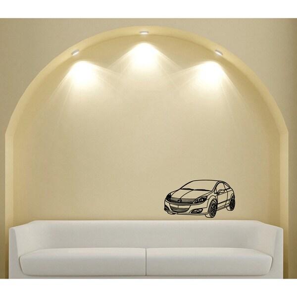 Car Hatchback Coupe Wall Art Vinyl Decal Sticker