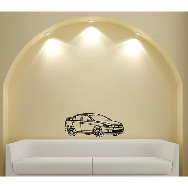 Street Racing Mitsubishi EVO Lancer Wall Art Vinyl Decal Sticker