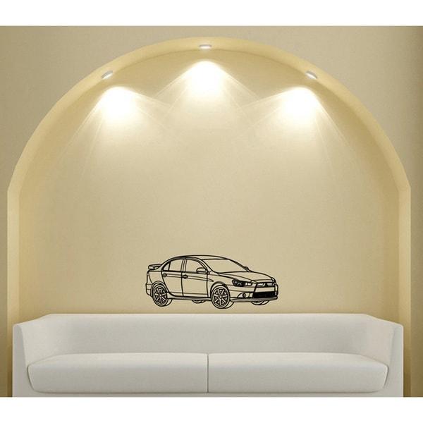 Street Racing Mitsubishi EVO Lancer Wall Art Vinyl Decal Sticker