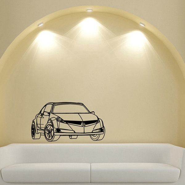 Car Sporty Street Racing Style Wall Art Vinyl Decal Sticker