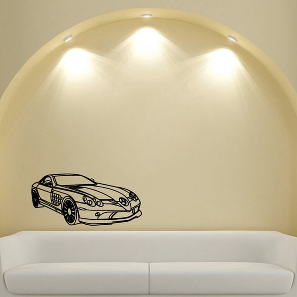Supercar Mercedes Wall Art Vinyl Decal Sticker