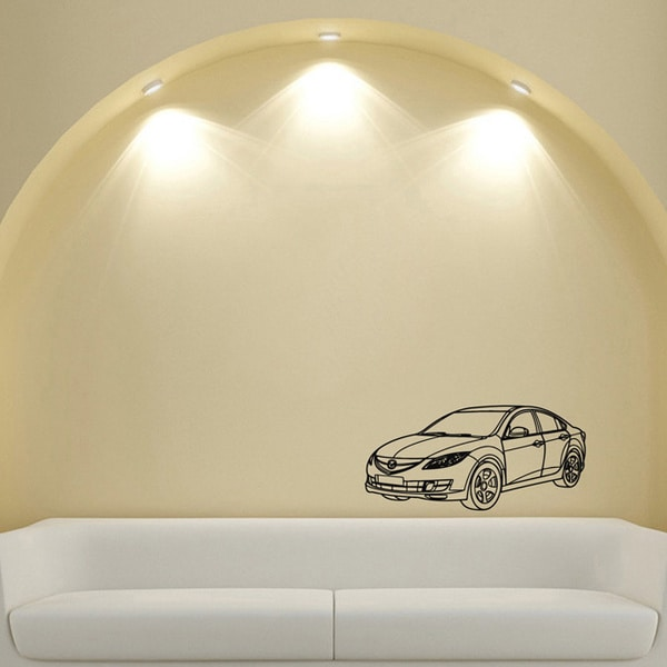 Mazda Sedan Wall Art Vinyl Decal Sticker