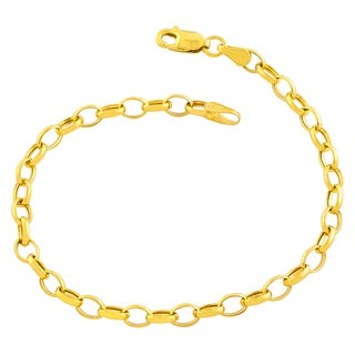Fremada 14k Yellow Gold 4.75-mm Rolo Link Bracelet (7.5 inches)