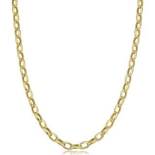 Fremada 14k Yellow Gold 4.6-mm Rolo Necklace (32 inches)