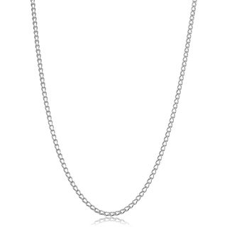 Fremada Sterling Silver Cage Link Necklace (18 - 30 inches)