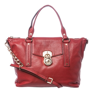 MICHAEL Michael Kors 'Hamilton' Medium Red Slouchy Satchel
