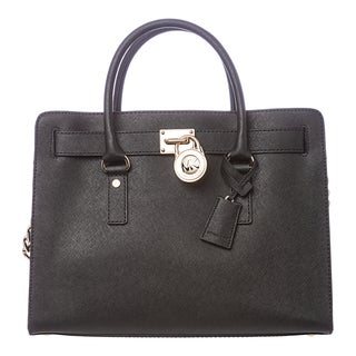 MICHAEL Michael Kors 'Hamilton' Black East West Satchel