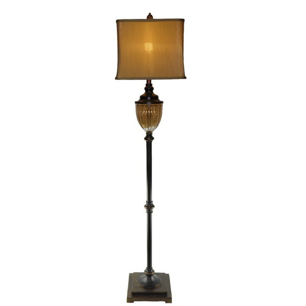 Amber 1-light Bronze Floor Lamp