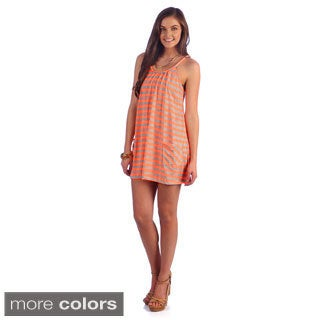 Women's Sleeveless Striped Rope Dress