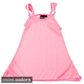 Girls Solid Knotted Dress