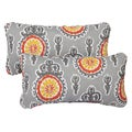 Vintage Citrus Corded 12 x 24 Inch Indoor/ Outdoor Lumbar Pillows (Set of 2)