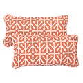 Dosett Orange Corded 12 x 24 Inch Indoor/ Outdoor Lumbar Pillows (Set of 2)