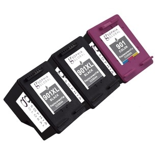 Sophia Global Remanufactured Ink Cartridge Replacements for HP 901XL with Ink Level Display (Pack of 3)