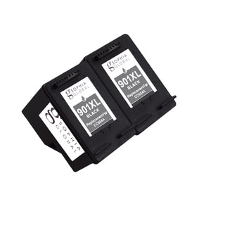Sophia Global Remanufactured Black Ink Cartridge Replacements for HP 901XL with Ink Level Display