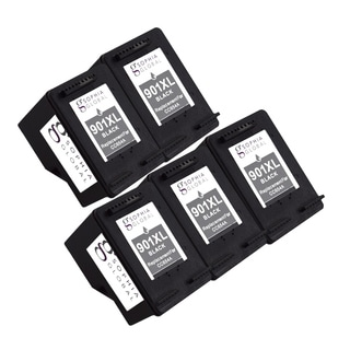 Sophia Global Remanufactured Black Ink Cartridge Replacements for HP 901XL with Ink Level Display (Pack of 5)