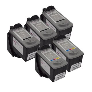 Sophia Global Remanufactured Ink Cartridge Replacements for Canon PG-40 and CL-41 with Ink Level Display (Pack of 5)