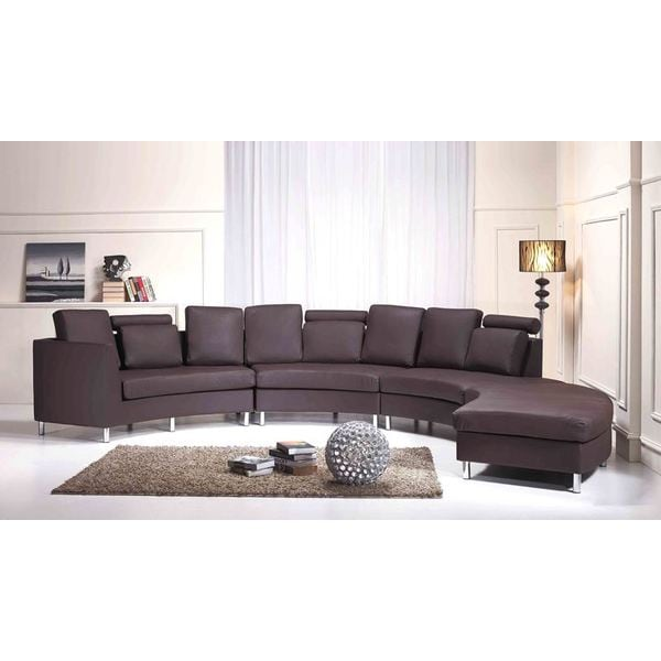 Beliani Rotunde Brown Modern Circular Sectional Sofa