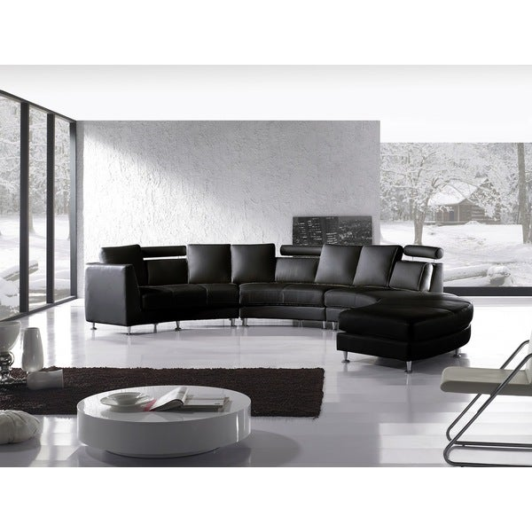 Beliani Rotunde Black Modern Circular Sectional Sofa