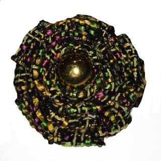 Multicolored Boucle Magnetic Brooch