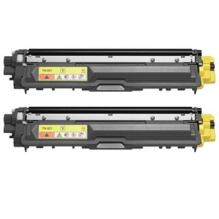 Brother TN221Y Remanufactured Compatible Yellow Toner Cartridge (Pack of 2)