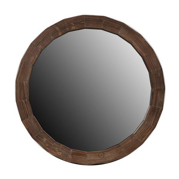 Privilege Small Reclaimed Round Mirror
