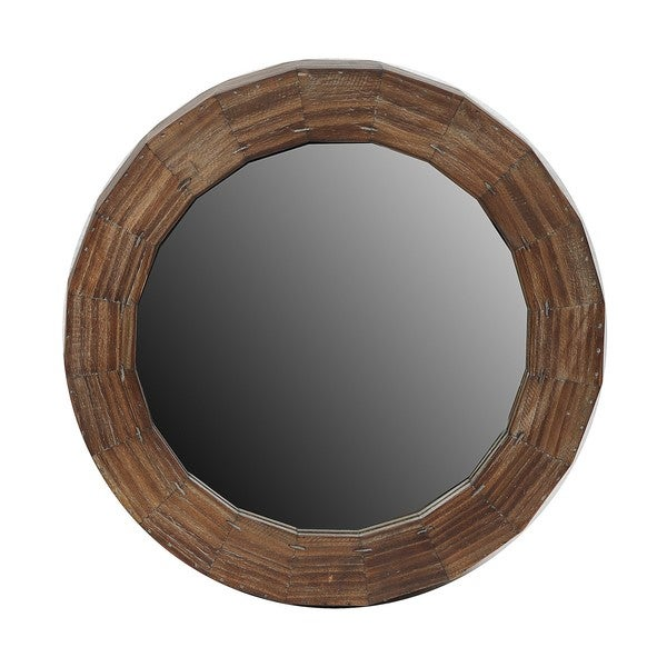 Privilege Large Reclaimed Round Mirror