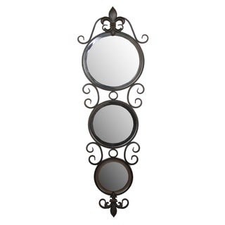 Privilege 3-circle Iron Beveled Mirror
