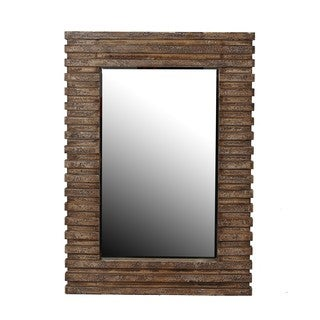 Privilege 42.5-inch Brown Reclaimed Wood Wall Mirror