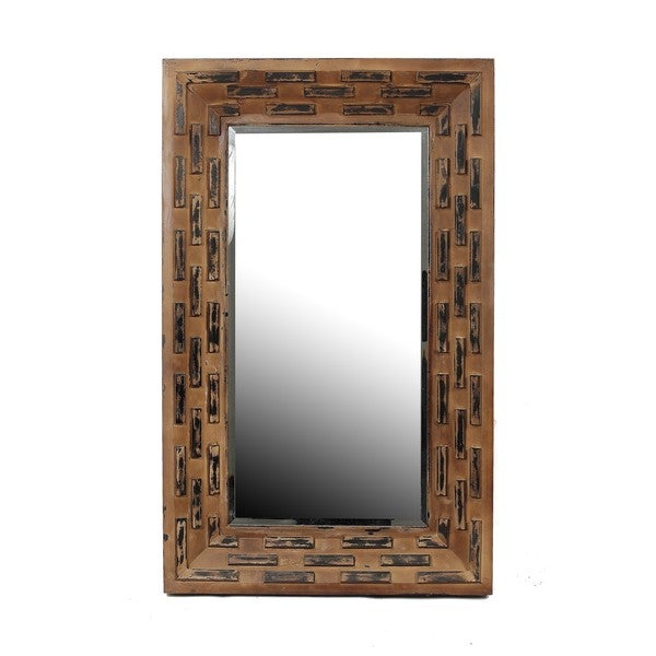 Design Of Reclaimed Wood Mirror : ... Reclaimed Wood Wall Mirror Home Living Decor Mirrors Furniture Hall