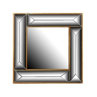 Privilege Deco Silver Wood Wall Mirror