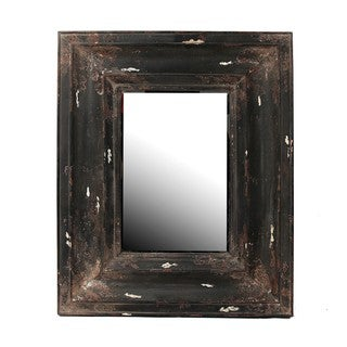 Privilege Vintage Black Reclaimed Wood Wall Mirror