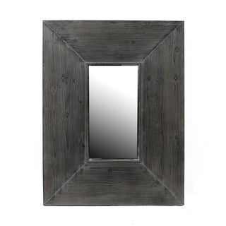 Privilege Grey Reclaimed Wood Wall Mirror